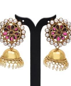 Stylish big stud jhumkas earrings